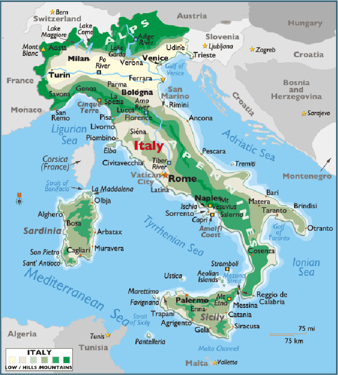 A Colorful Travel Map of Italy | This is Italy