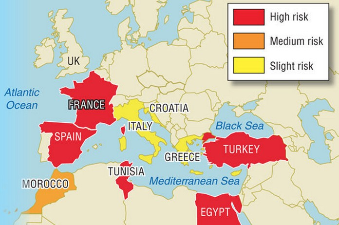 How safe is your 2018 summer travel map reveals most dangerous how safe is your 2018 summer travel map reveals most dangerous places in europe gumiabroncs