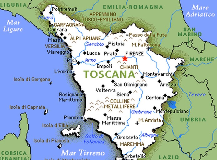 Tuscany Italy Map Of Area.The Beautiful Region Of Tuscany In Italy This Is Italy