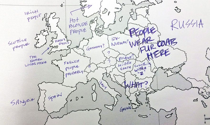 Americans Asked To Place All Europe Countries On The Map And Heres What They Wrote
